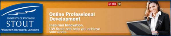 online professional development - University of Wisconsin Stout