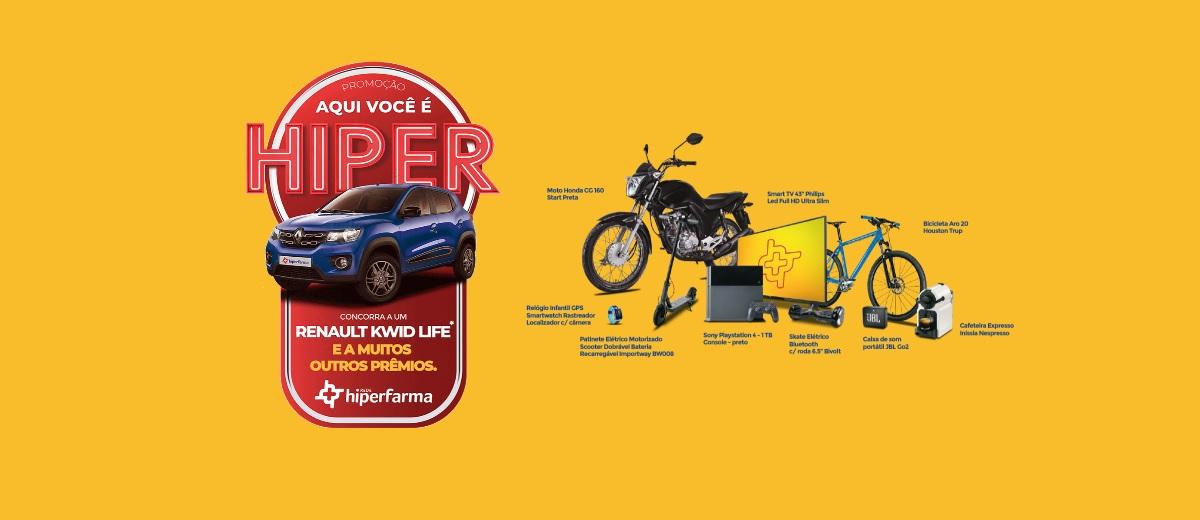 HIPERFarma Promoção Aqui Você é Hiper 2020 - Carro, Motos e Prêmios