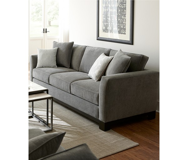 Gray Sofa Kaede Gray Chesterfield Velvet Sofa Pier 1