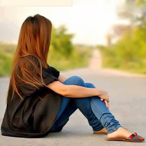 girl sitting alone Whatsapp Profile Picture, DP, Images Download