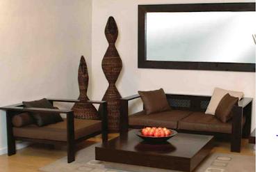 model ruang tamu minimalis kayu