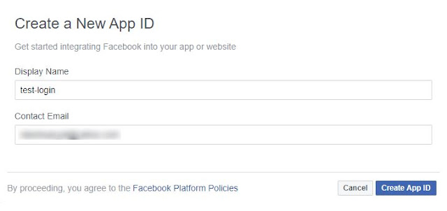 OAuth2 Facebook Create App Id