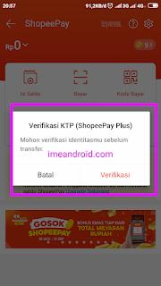 Cara transfer ShopeePay tanpa verifikasi KTP