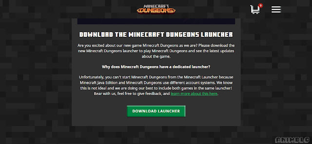 link download minecraft dungeons launcher