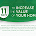 11 Ways To Increase The Value of Your Home #infographic