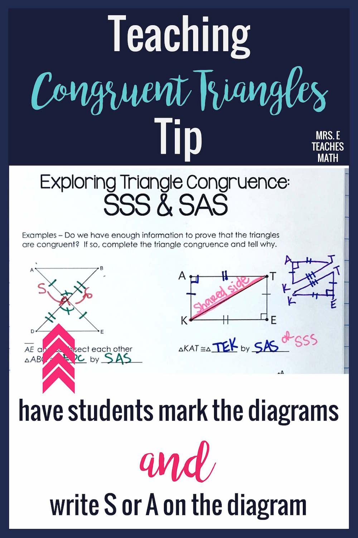 7 Ideas for Teaching Congruent Triangles   Mrs. E Teaches Math [ 1500 x 1000 Pixel ]