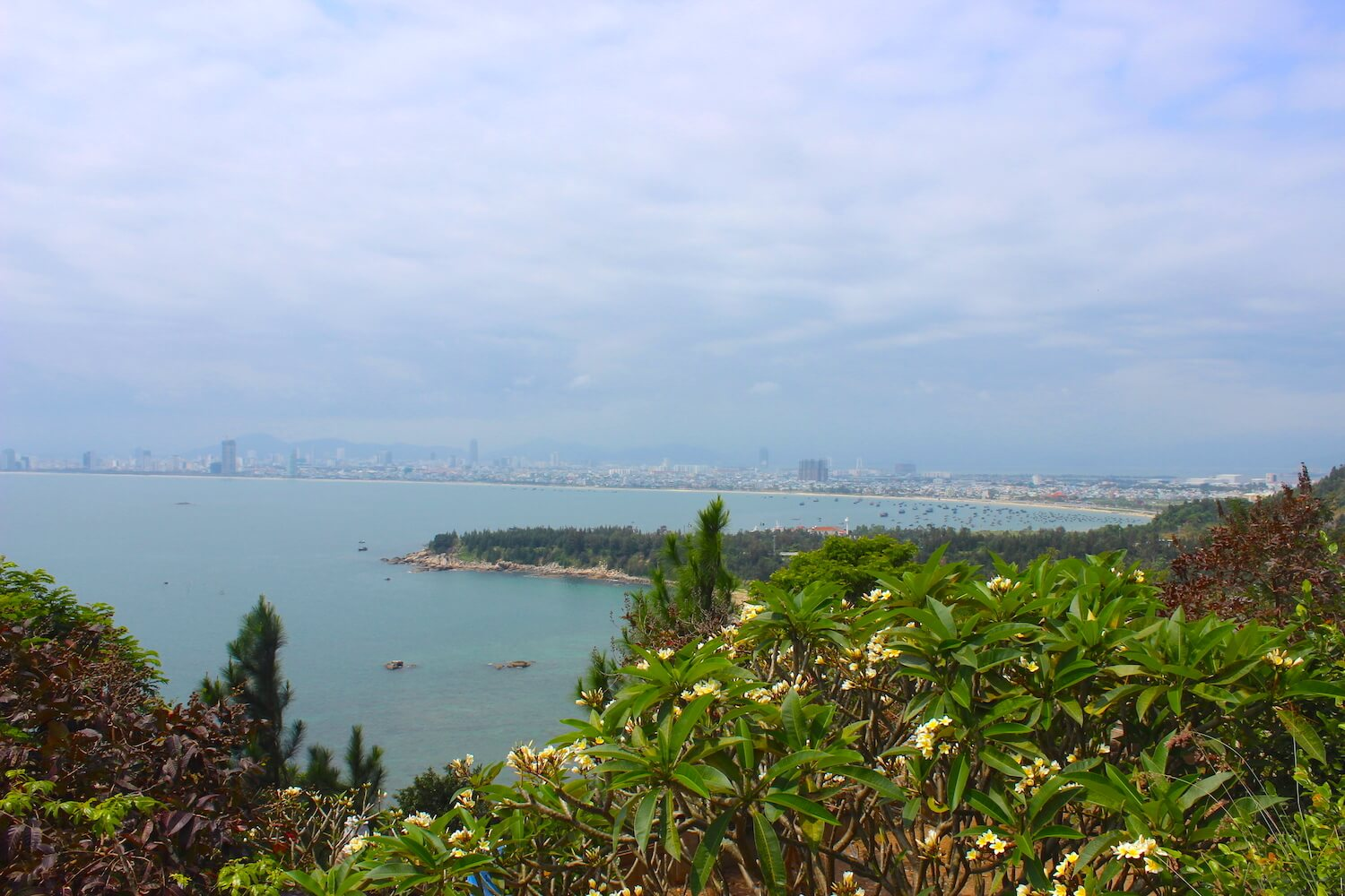 view of da nang from monkey mountain