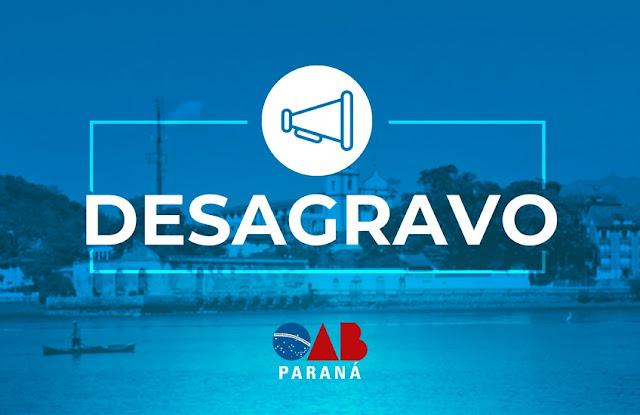 OAB Paraná cumpre desagravo em favor de advogada agredida pela polícia