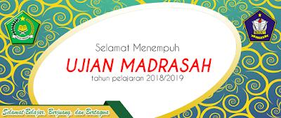 Spanduk Ucapan Ujian Nasional/Madrasah