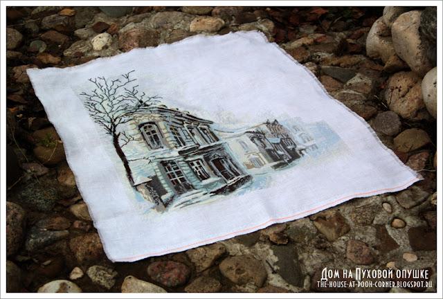 старый город вышивка