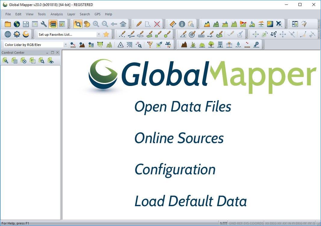 تحميل برنامج Global Mapper 21.1.0 لمعالجة بيانات نظام المعلومات الجغرافية