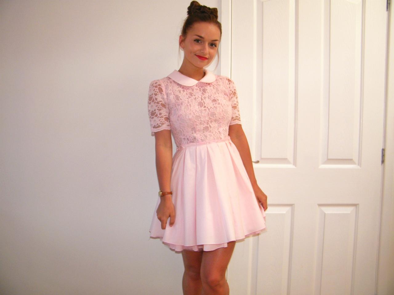 Jones & Jones Pink Peter Pan Dress