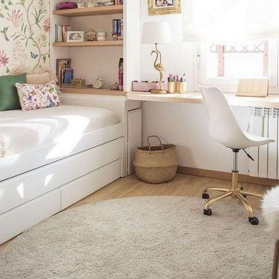 Dekorasi Kamar Tidur Sederhana dengan Karpet Minimalis