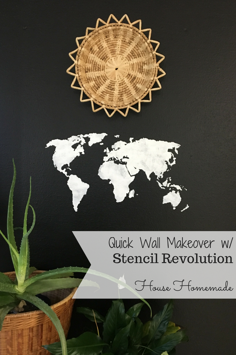 A quick wall makeover with stencilrevolution.com