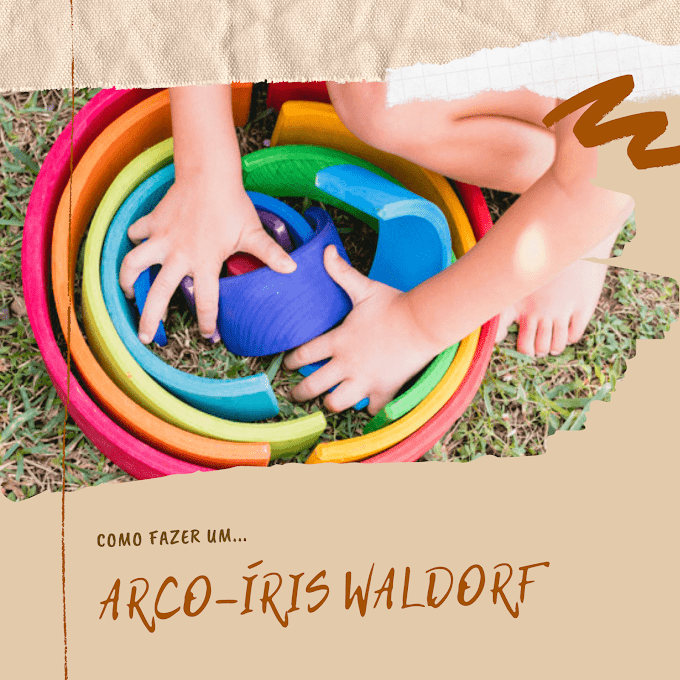Aprenda a fazer um arco-íris Waldorf com material reciclável
