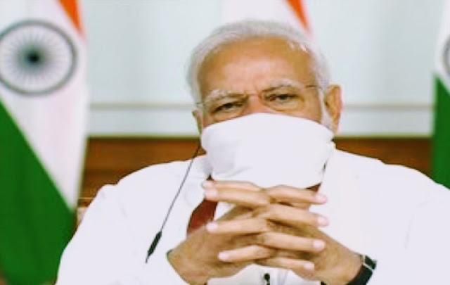 बढ़ सकता है लॉकडाउन, मास्क लगाकर PM मोदी ने किया चर्चा