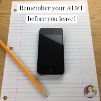 """When writing conclusions to essays, I say to my middle school students """"What's the last thing you grab before you leave?  Your phone - your AT&T!""""  #teaching #textbased #conclusions"""