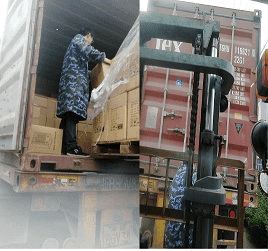 Process Loading Cargo At China To Door Delivery In Indonesia