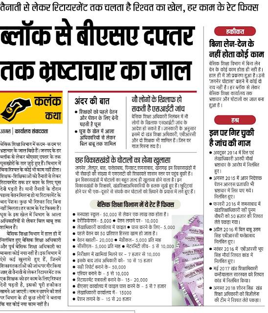 आगरा - बीएसए से बीएसए दफ्तर तक भ्रष्टाचार का जाल