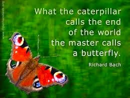 Richard Bach - What the caterpillar calls the end of the world, the master calls a butterfly