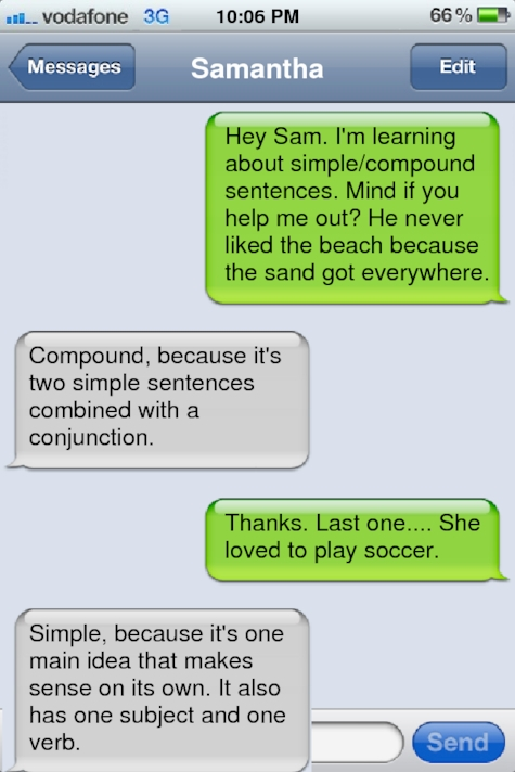 fine fake text simple and compound