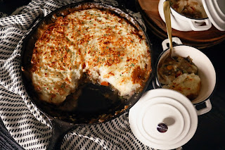 vegetarian shepherds pie with meat substitute