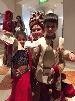 Child at an Indian wedding