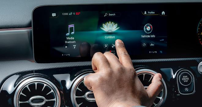 Mercedes A-Class touchscreen