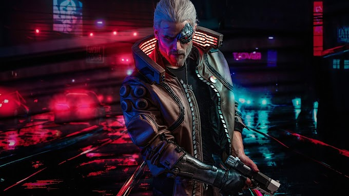 Tela de Fundo Cyberpunk 2077 Witcher