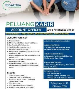 Lowongan Kerja Account Officer di PT. Bina Artha
