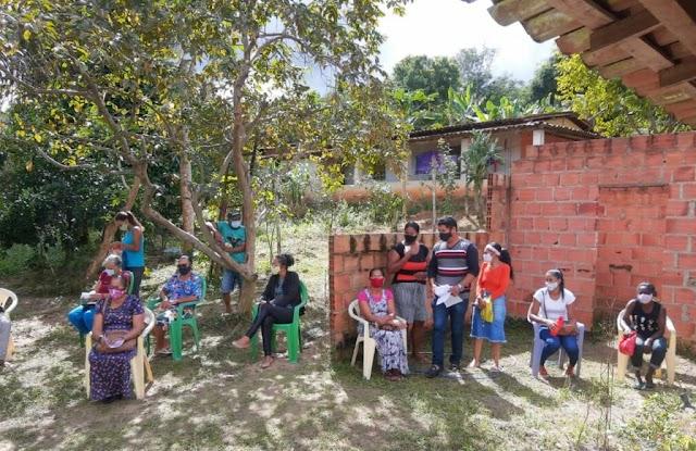Agosto Lilás leva ações de conscientização sobre violência contra a mulher à zona rural de Alagoinhas