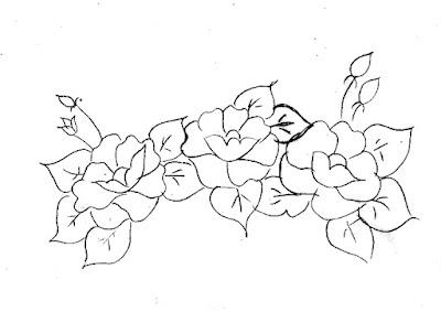 desenho de papoulas para pintar
