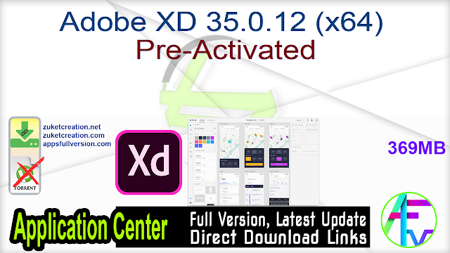 Adobe XD 35.0.12 (x64) Pre-Activated