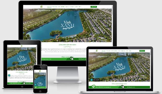 Theme bất động sản đẹp 2019 mẫu GreenBay