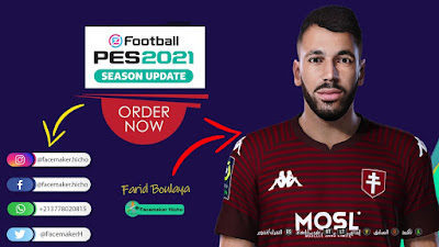 PES 2021 Faces Farid Boulaya by Qiya