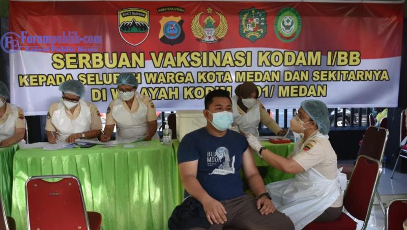 Kodam I/BB Percepat Herd Immunity, Vaksinasi Dikebut