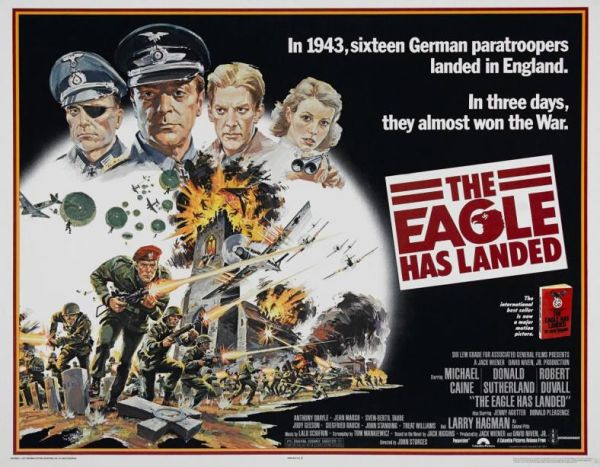 Original film poster for The Eagle Has Landed, 1976