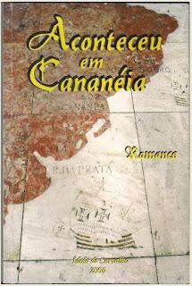 """Capa do livro """"Aconteceu em Cananeia""""."""
