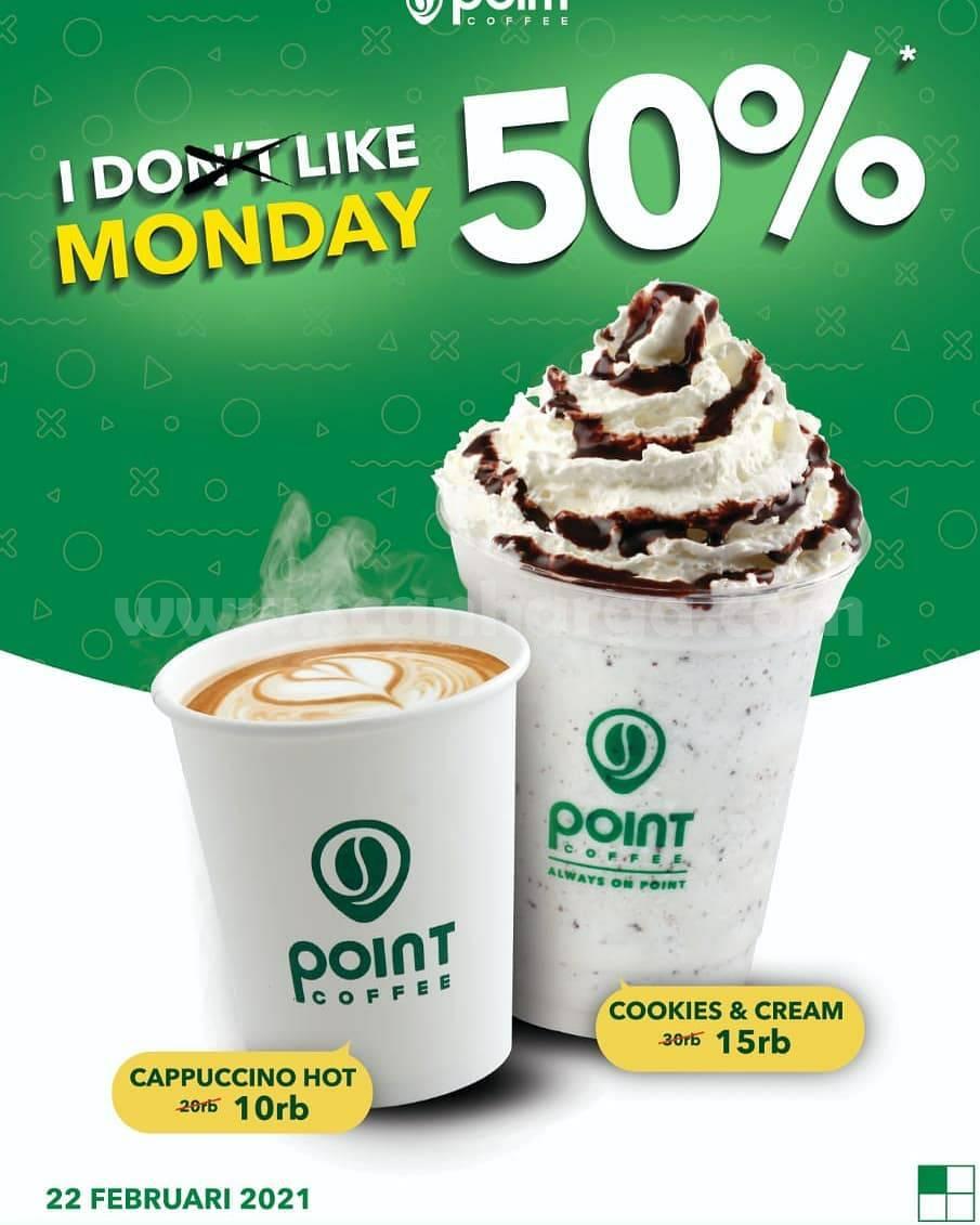 Point Coffee Promo I Like Monday Tiap Senin Diskon 50%