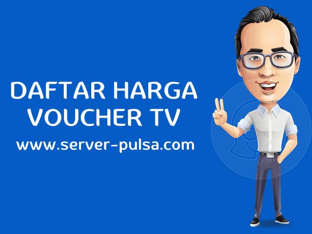 Daftar Harga Voucher TV Prabayar Murah Grosir-Pulsa.com