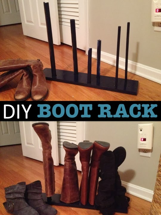 Two It Yourself Diy Boot Rack In 15 Minutes