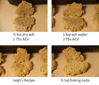 Ash and ash water biscuits, THL recipe and Leigh's recipe, side view