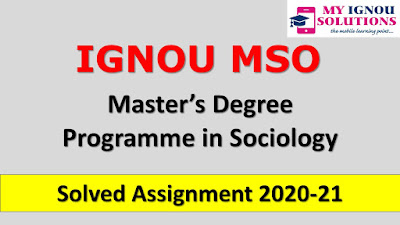 IGNOU MSO Solved Assignment 2020-21, MSO Solved Assignment 2020-21