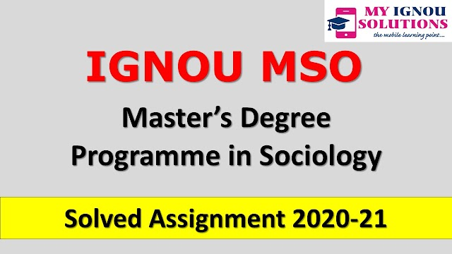 MSO Solved Assignment 2020-21