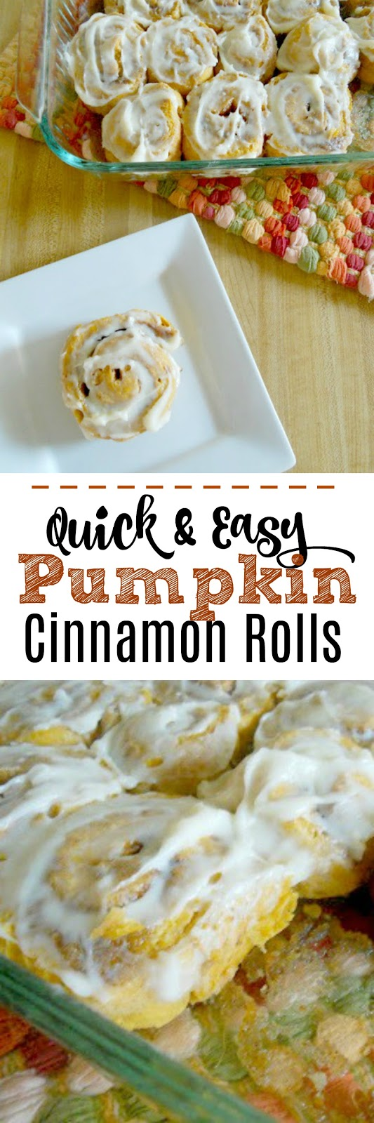 Pumpkin Cinnamon Rolls...quick and easy, they require NO yeast!  In under an hour you'll be sinking your teeth into these delicious cinnamon rolls.  A family favorite for Thanksgiving weekend! (sweetandsavoryfood.com)