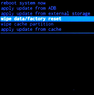 wipe data / factory reset