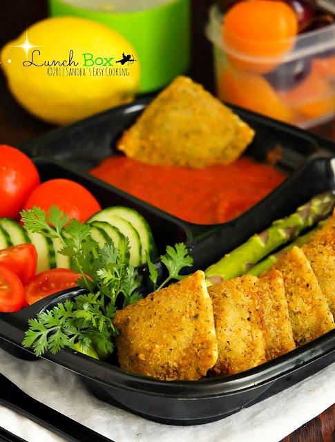 Delicious lunch box (bento) idea Breaded Baked Ravioli