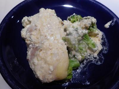 Alfredo Chicken Bake Image: Large Chicken Breast, Small Serving Broccoli