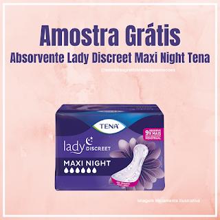 Amostra Grátis Absrovente Lady Discreet Maxi Night Tena