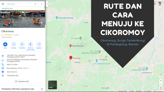 Rute dan Cara Menuju ke Cikoromoy: Surga Tersembunyi di Pandeglang